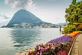 Pulic park in Lugano, Switzerland
