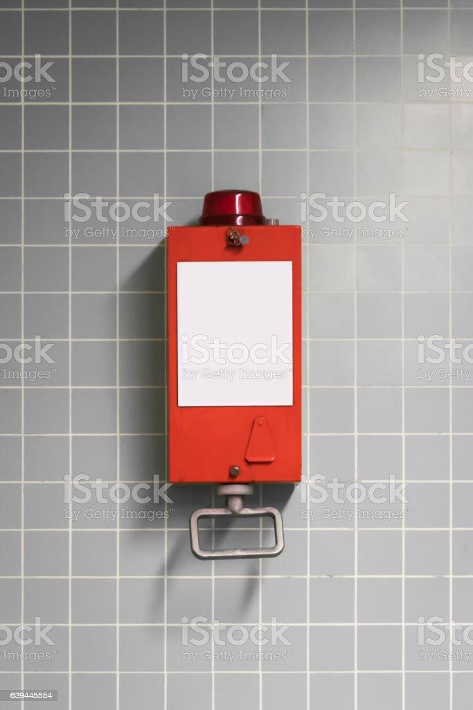 pull handle - emergency break / fire alarm stock photo
