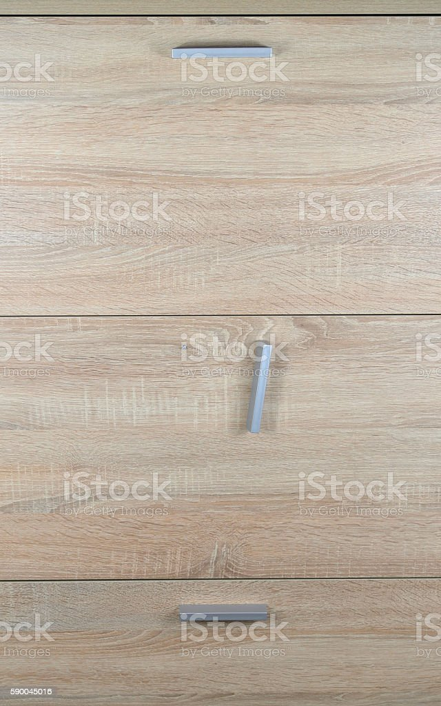 Pull Hanging a on Cabinet stock photo