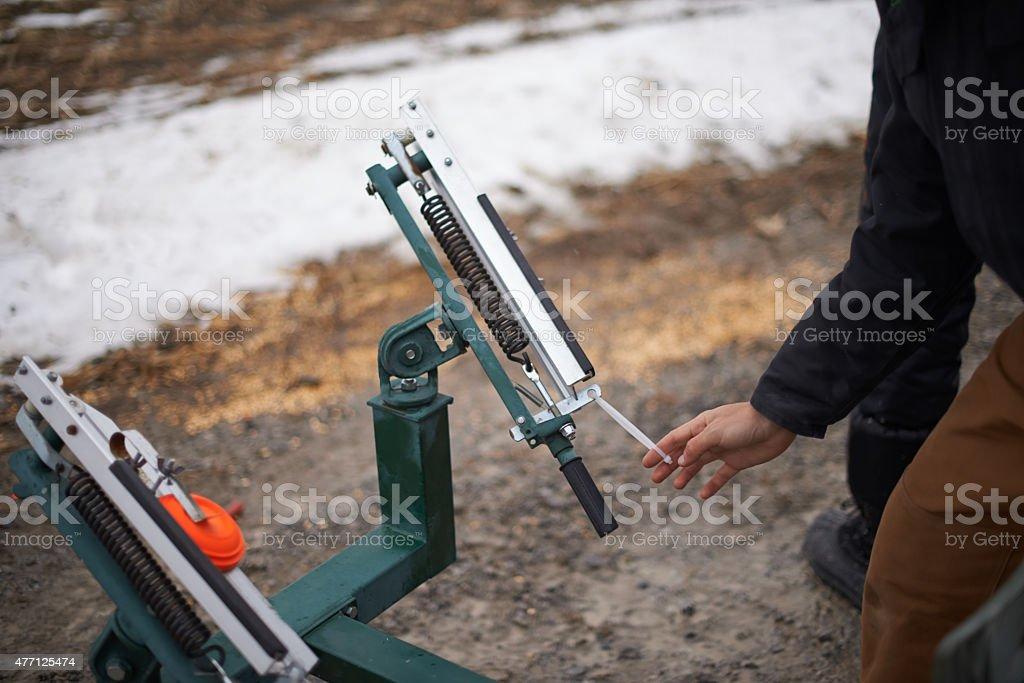 Pull! stock photo
