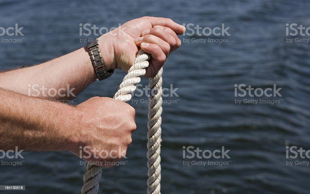 pull rope stock photo