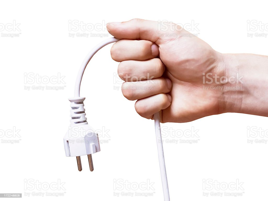 Pull the Plug royalty-free stock photo