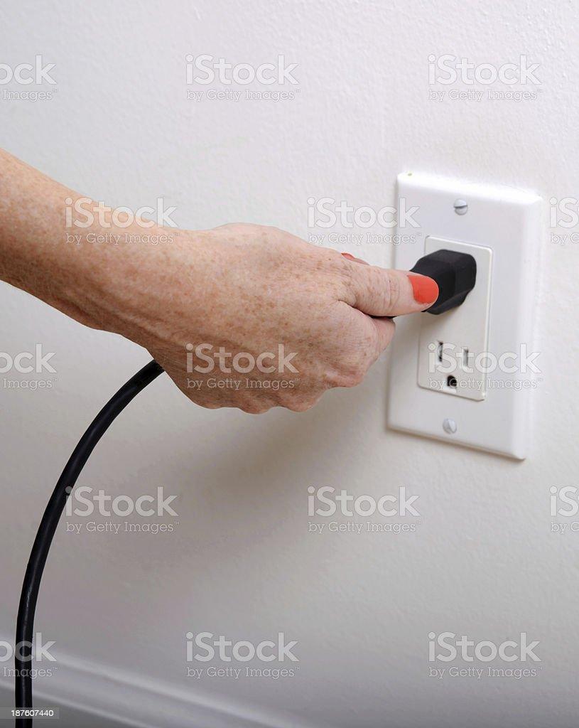 pull the plug stock photo