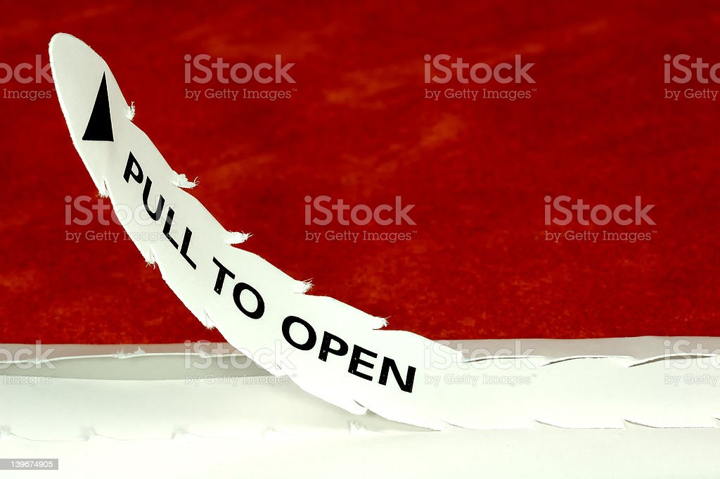 Pull To Open stock photo