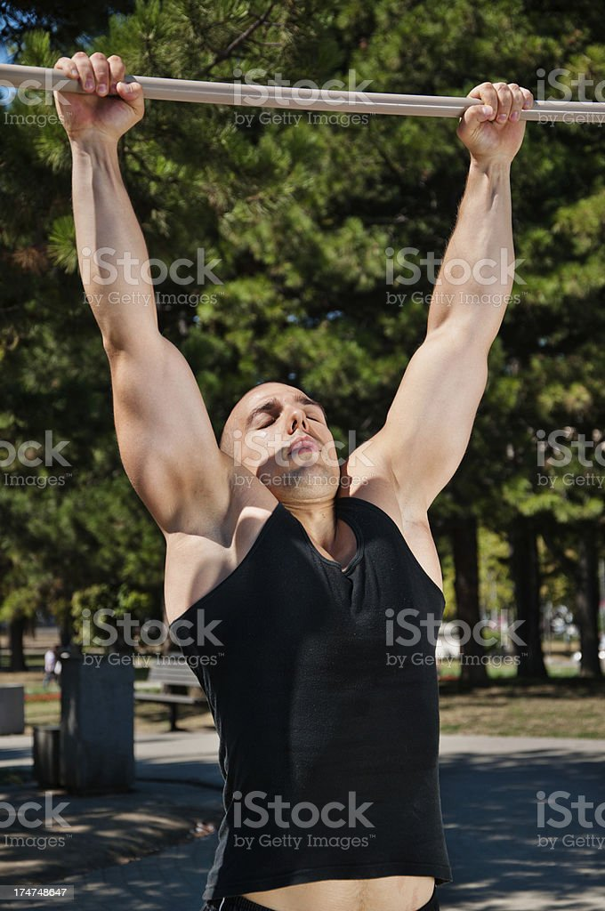 Pull up royalty-free stock photo