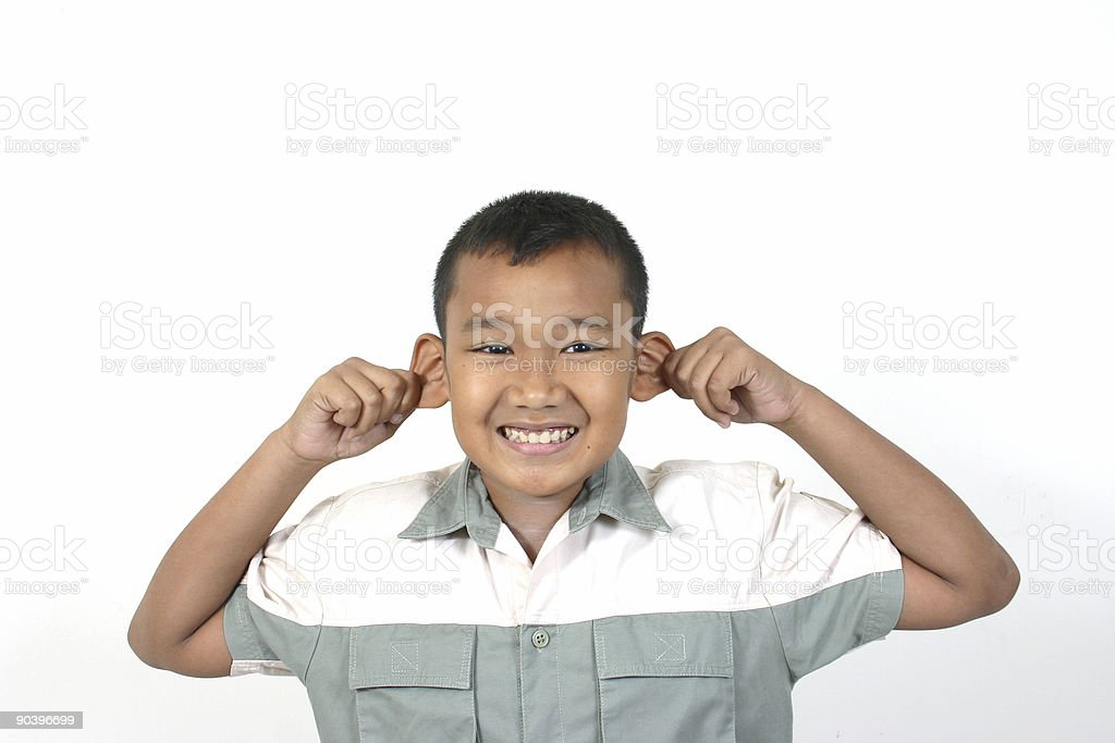 pull your ears stock photo