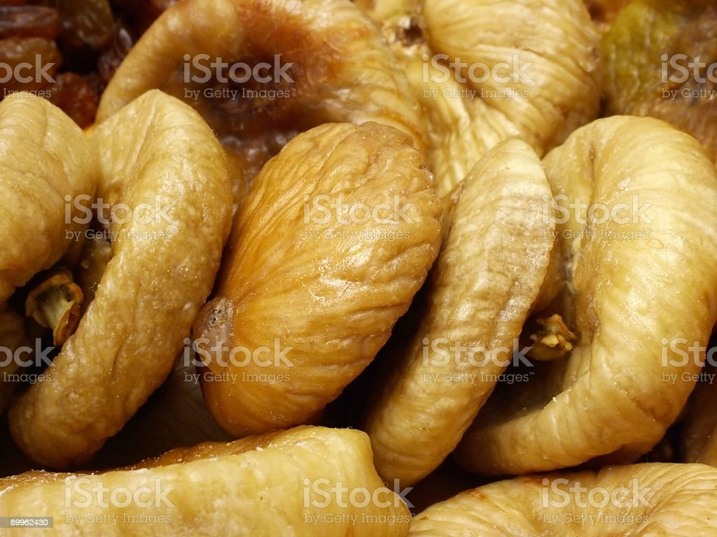 Pulled figs royalty-free stock photo