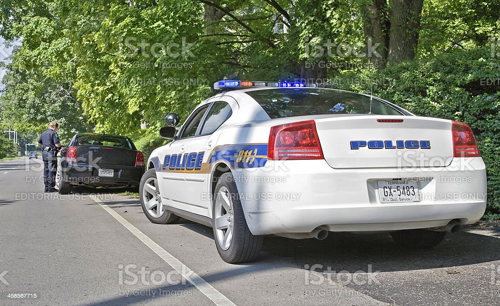 Pulled Over By Police royalty-free stock photo