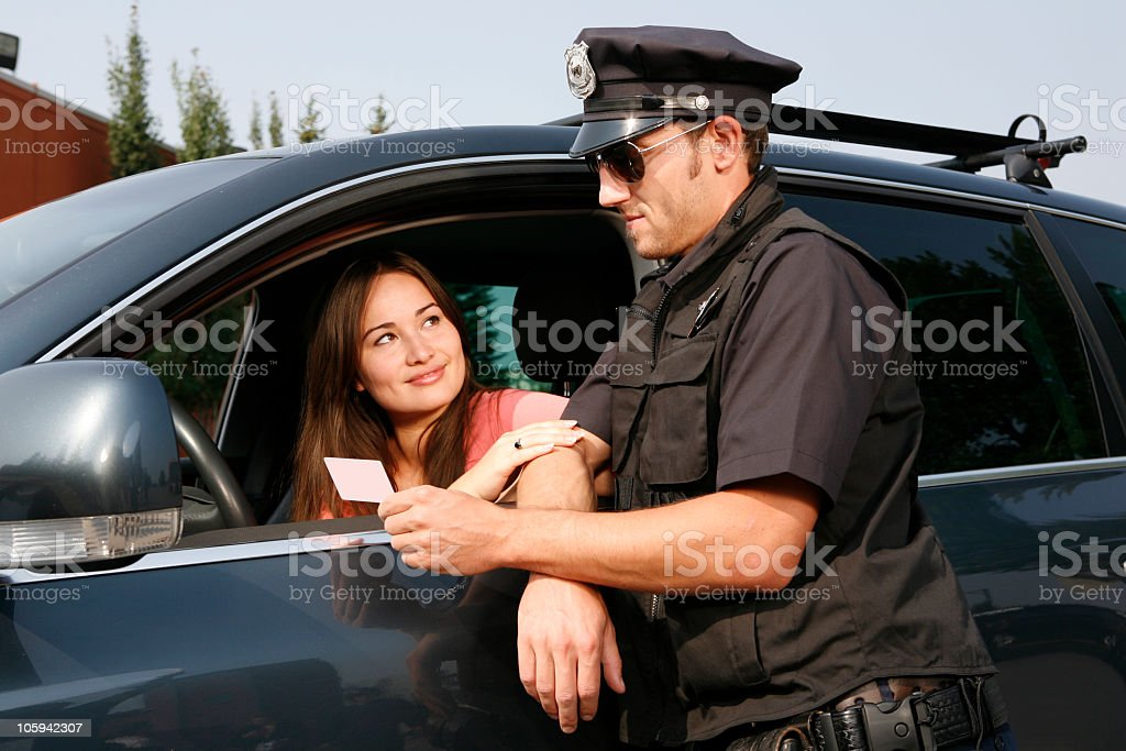 Pulled Over stock photo