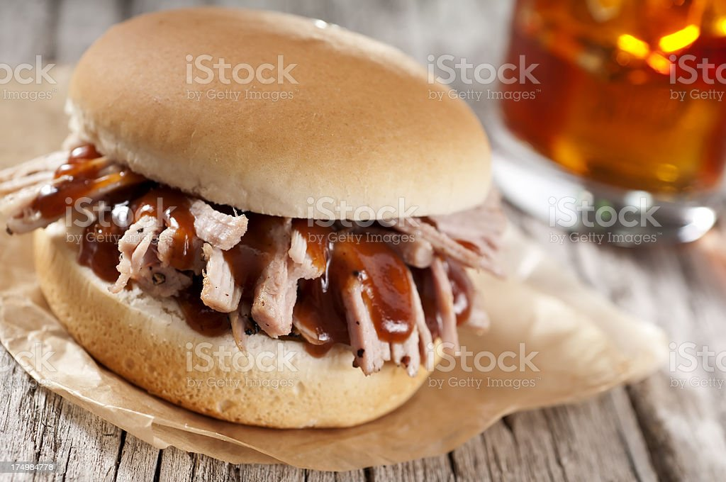 Pulled Pork BBQ royalty-free stock photo