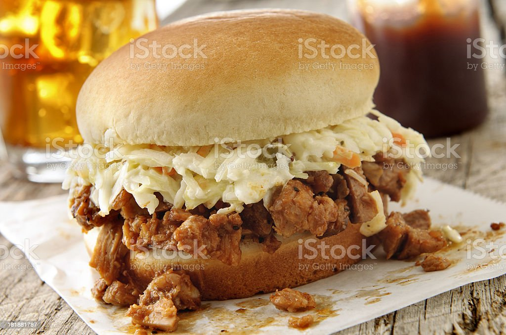 Pulled Pork BBQ stock photo