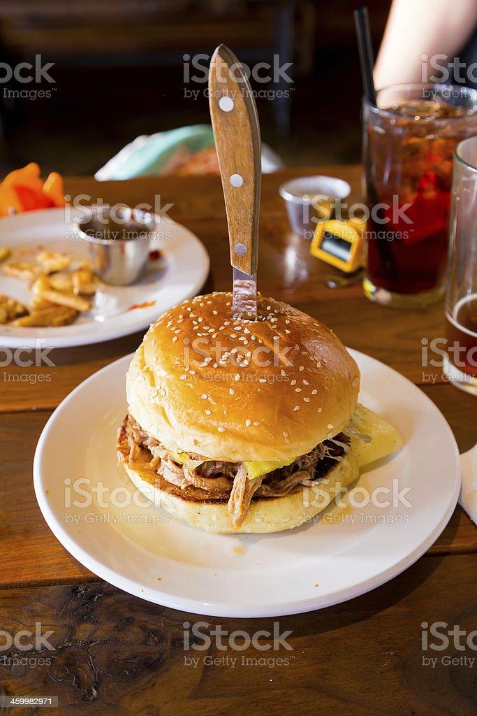 Pulled Pork Cuban Sandwich stock photo