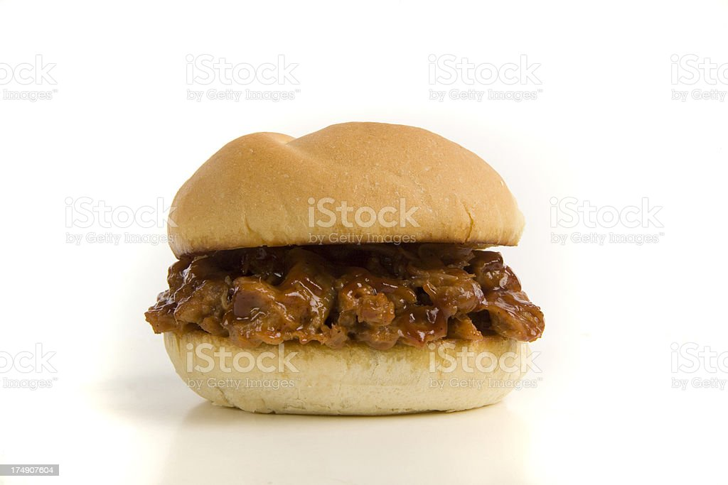 Pulled Pork Sandwich royalty-free stock photo