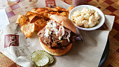 Pulled Pork Sandwich with Chips & Mac and Cheese