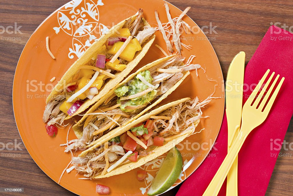 Pulled Pork Tacos stock photo