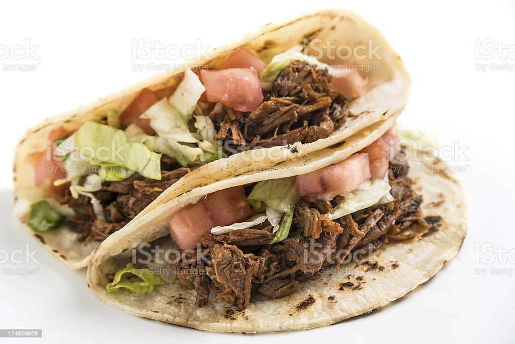Pulled Pork Tacos (tacos de cochinita pibil) stock photo