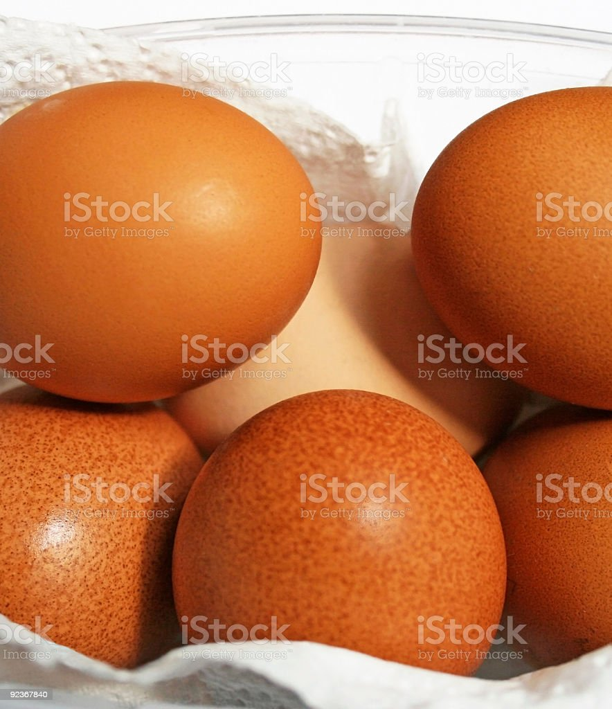 Pullets' Eggs. stock photo