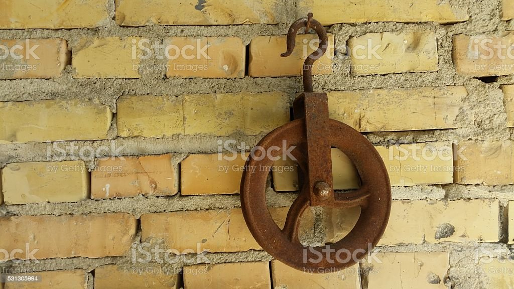 pulley stock photo
