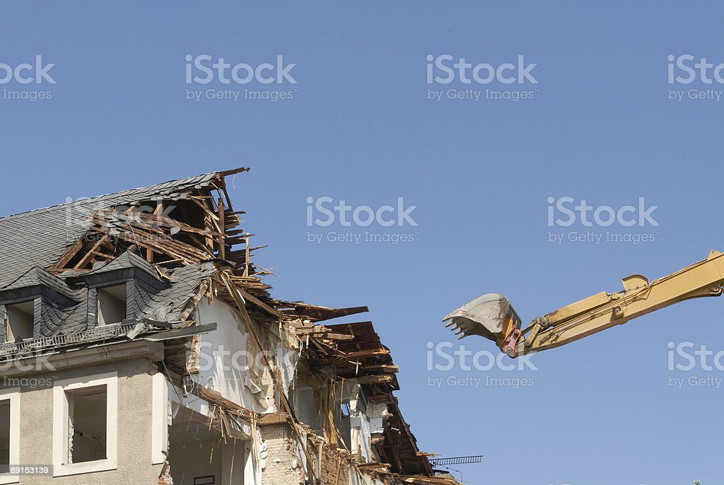 pulling down royalty-free stock photo