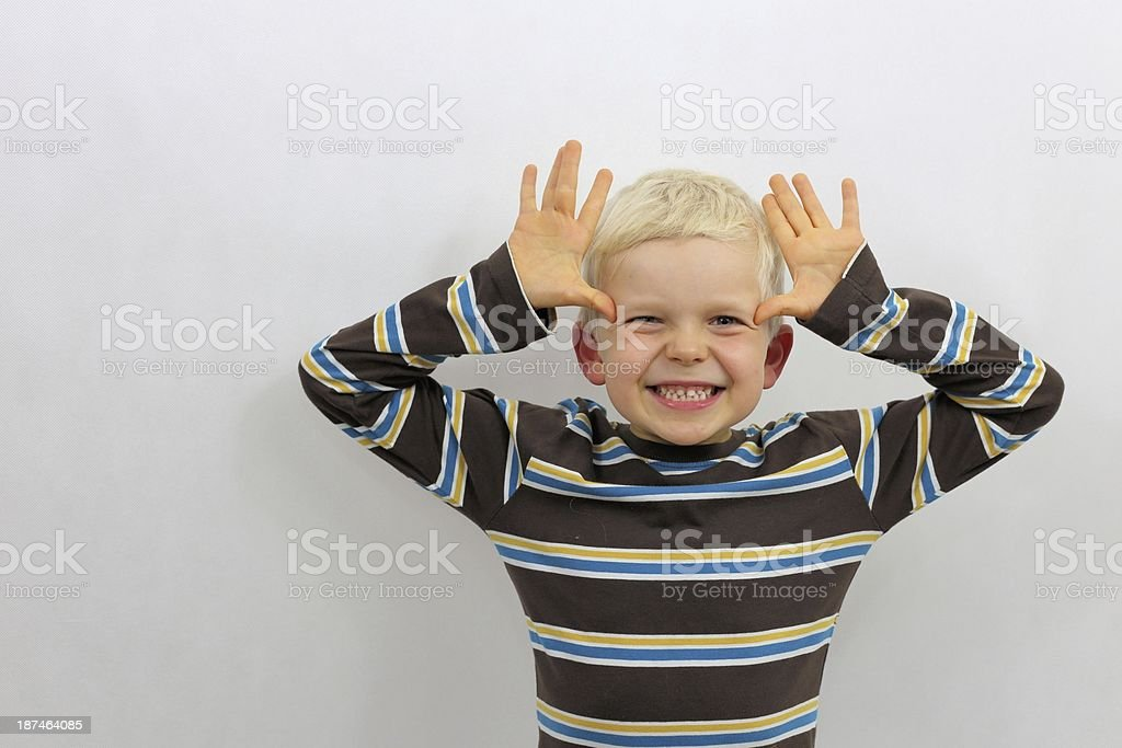 pulling faces royalty-free stock photo