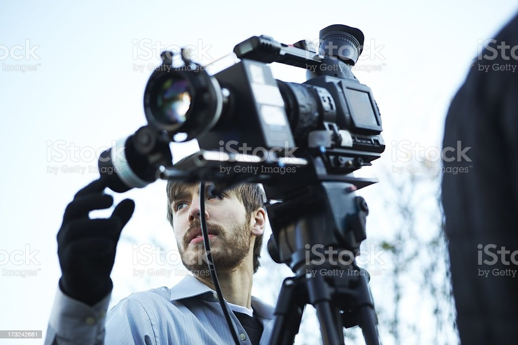 Pulling Focus royalty-free stock photo