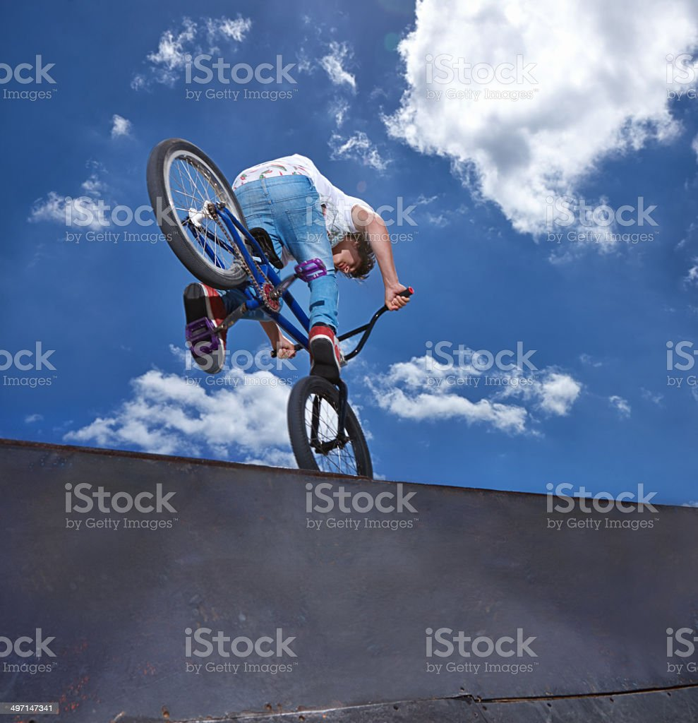 Pulling out all the stops stock photo