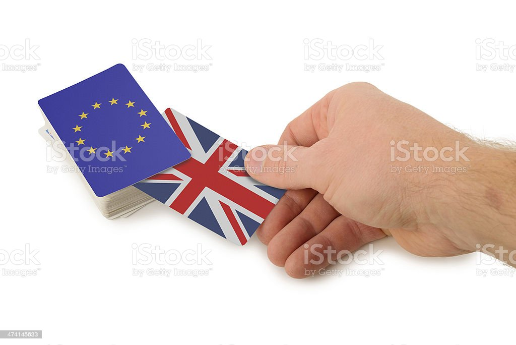 Pulling out of the EU royalty-free stock photo