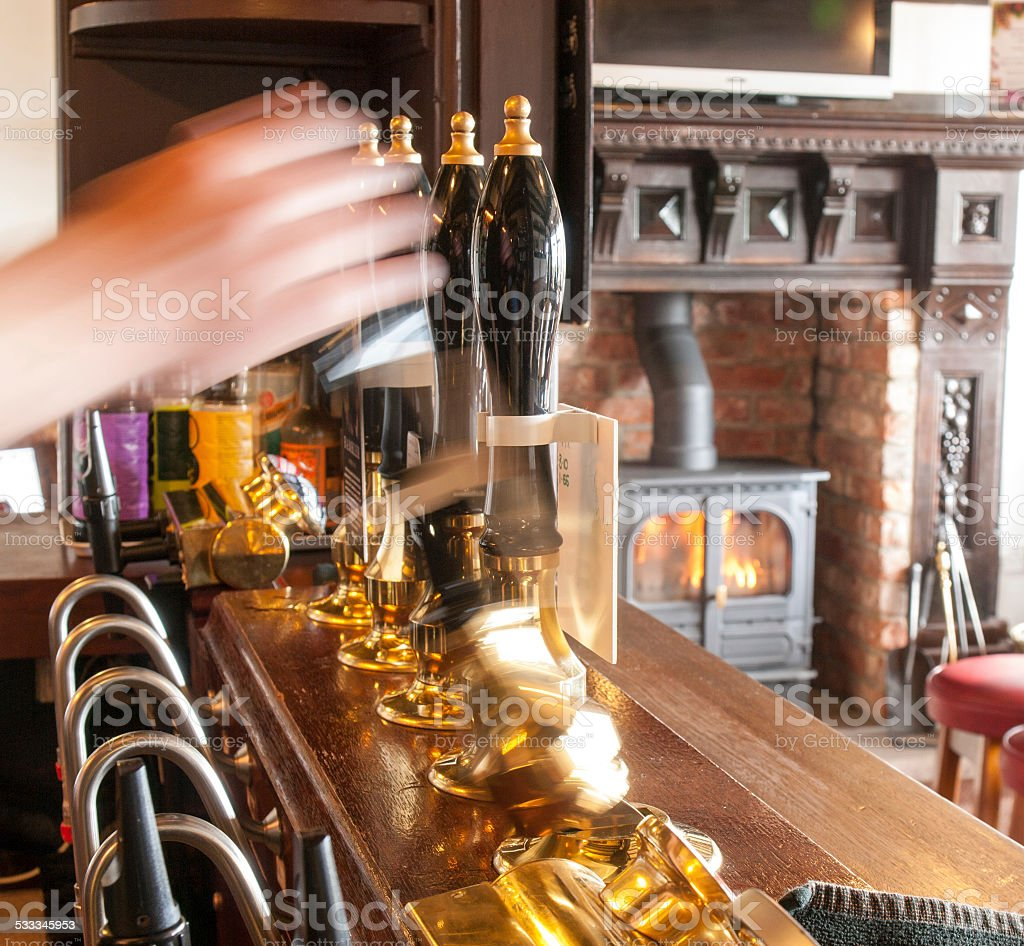 Pulling Pints stock photo