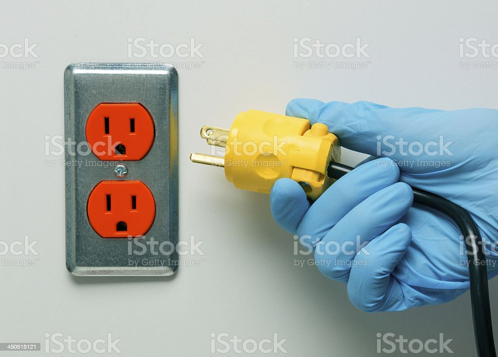 Pulling the Plug on Life Support stock photo