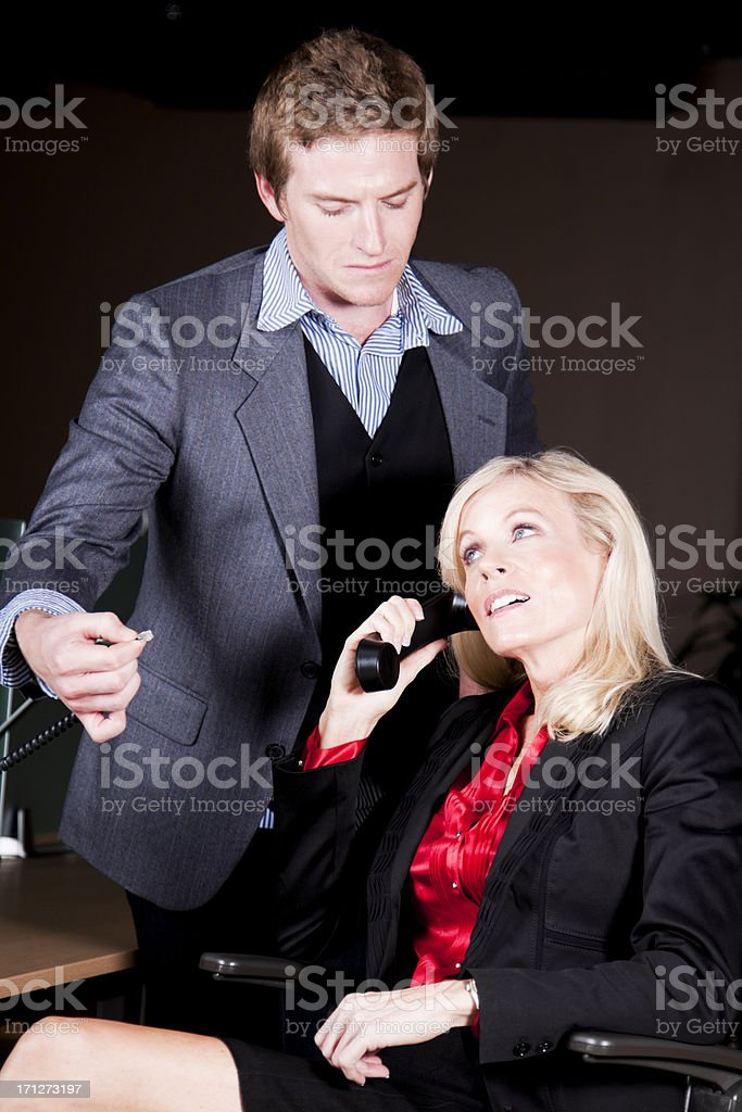 Pulling the Plug Out stock photo