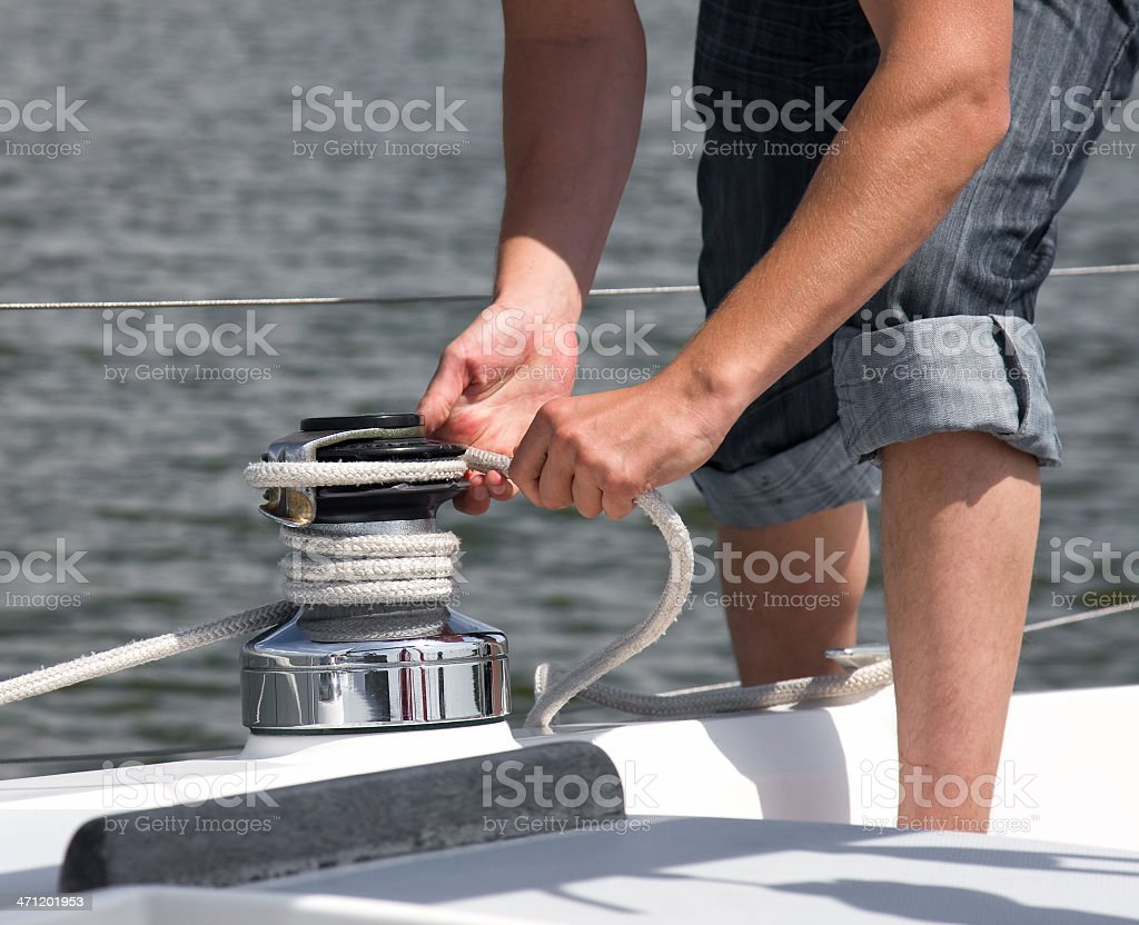 Pulling the rope royalty-free stock photo