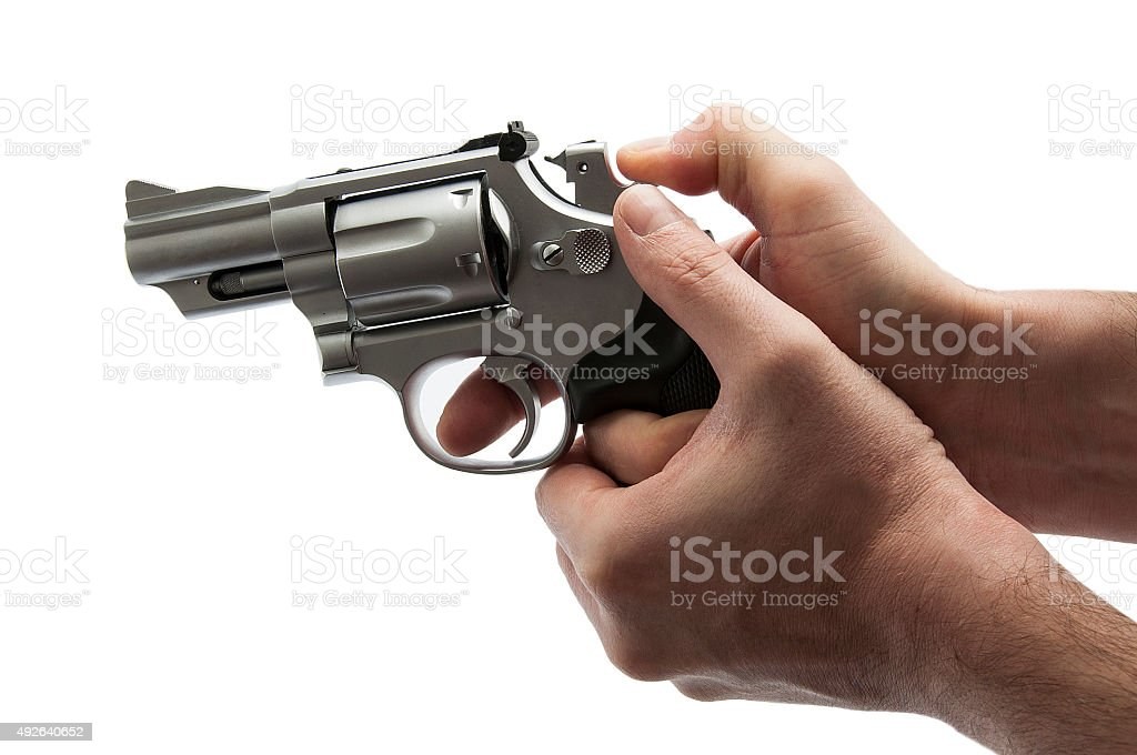 Pulling The Trigger stock photo