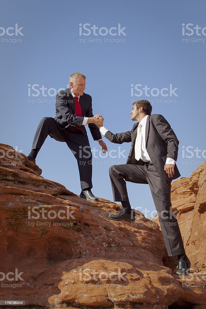 Pulling together. stock photo