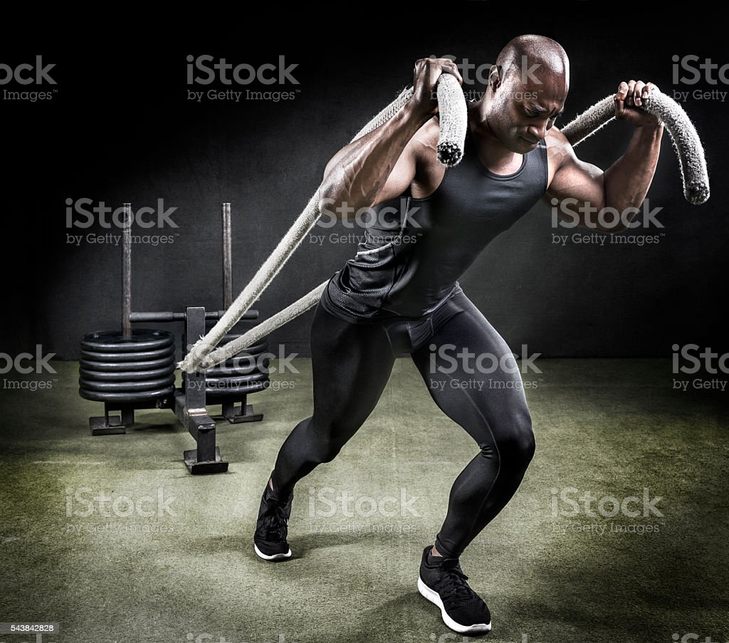 Pulling your weight. stock photo