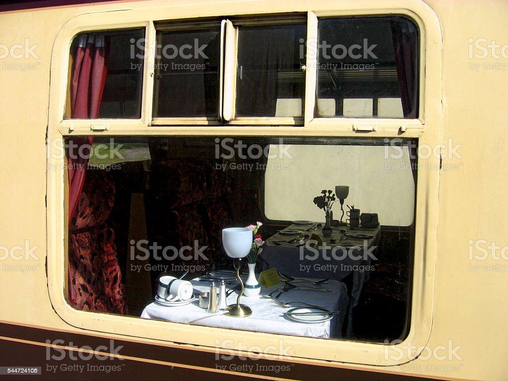 Pullman Dining Car stock photo