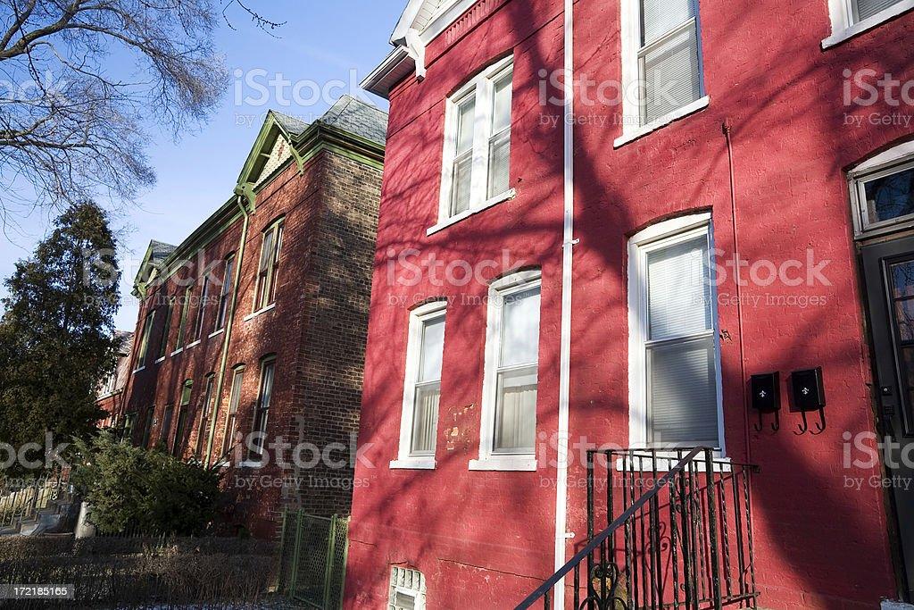 Pullman Houses, Chicago stock photo