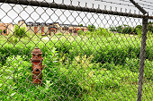 Pullman National Monument, derelict factory and fire hydrant