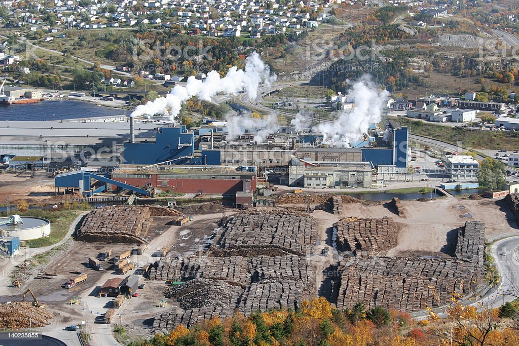 Pulp & Paper Mill stock photo
