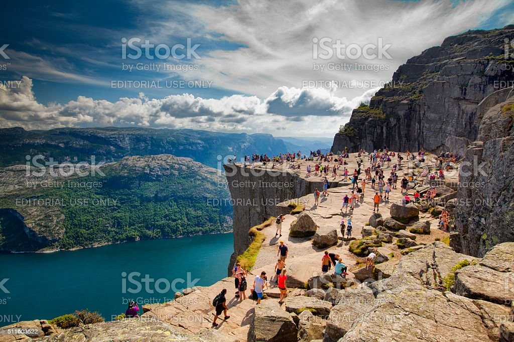 Pulpit Rock, Norway - Stock Image stock photo