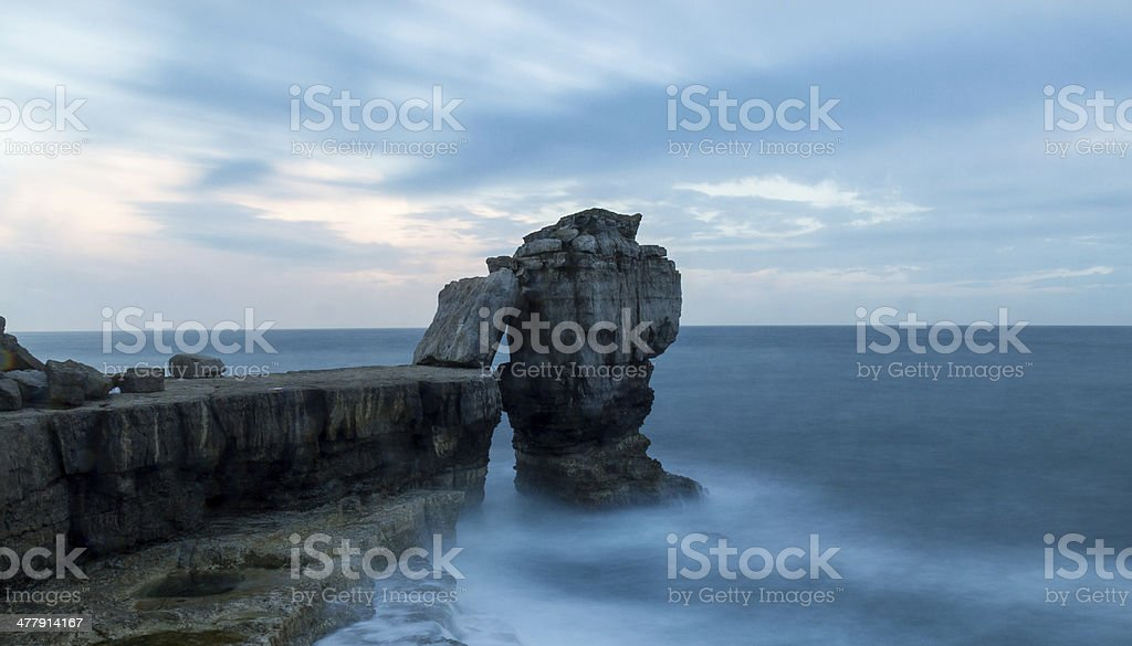 Pulpit Rock - Portland in Dorset stock photo