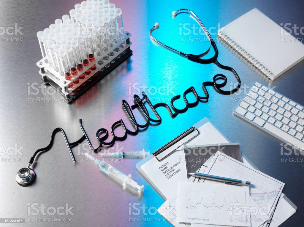 Pulsating Healthcare Stethoscope royalty-free stock photo