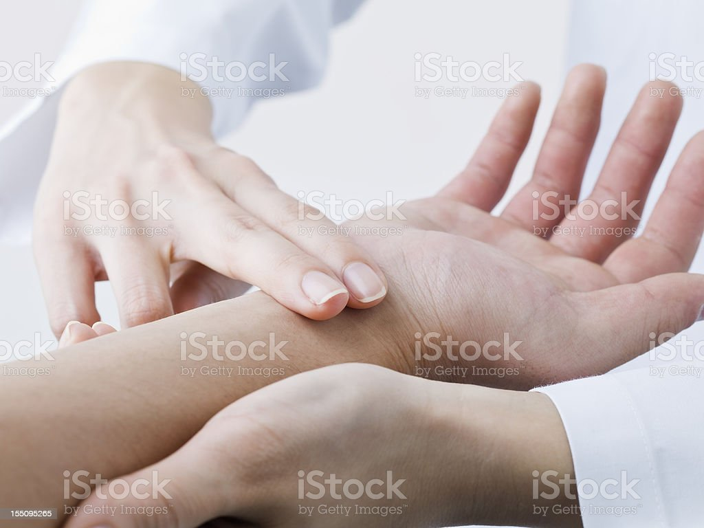 Pulse counting royalty-free stock photo