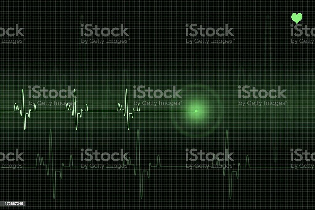 Pulse trace royalty-free stock photo