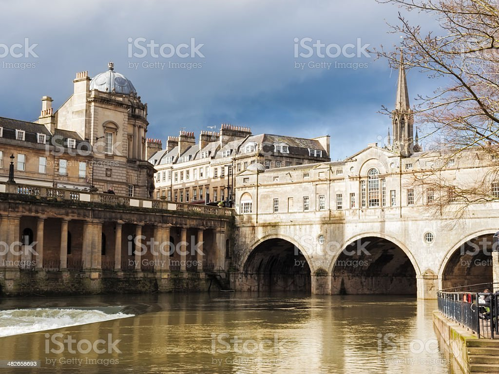 Pulteney Bridge Bath England stock photo