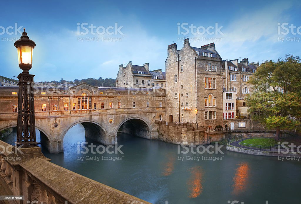 Pulteney Bridge in Bath stock photo