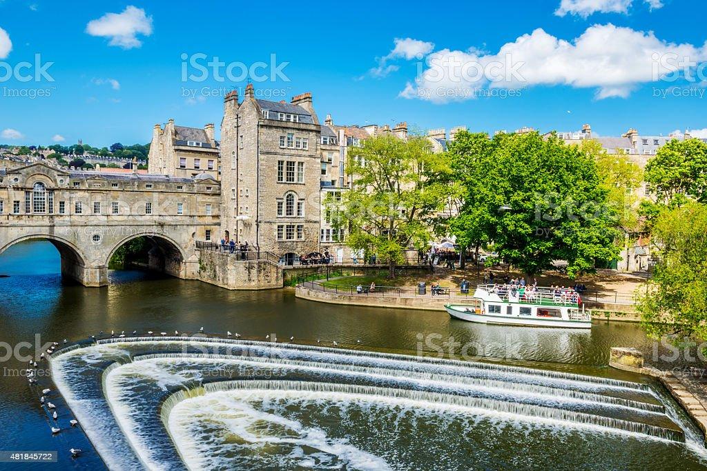 Pulteney Bridge United Kingdom city Bath stock photo