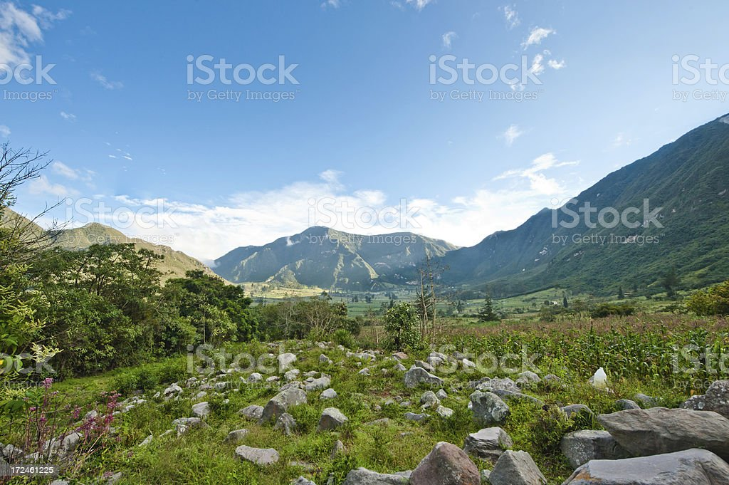Pululahua crater royalty-free stock photo
