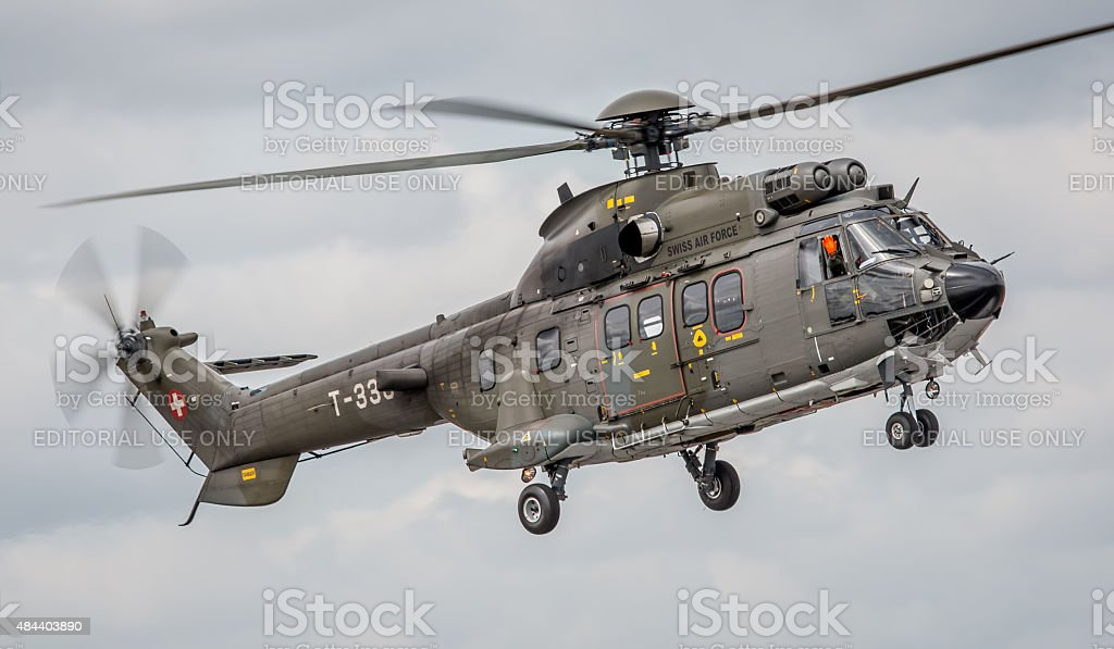 Puma helicopter - Swiss Air Force stock photo