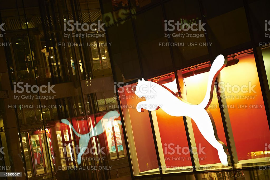 Puma Neon Sign stock photo