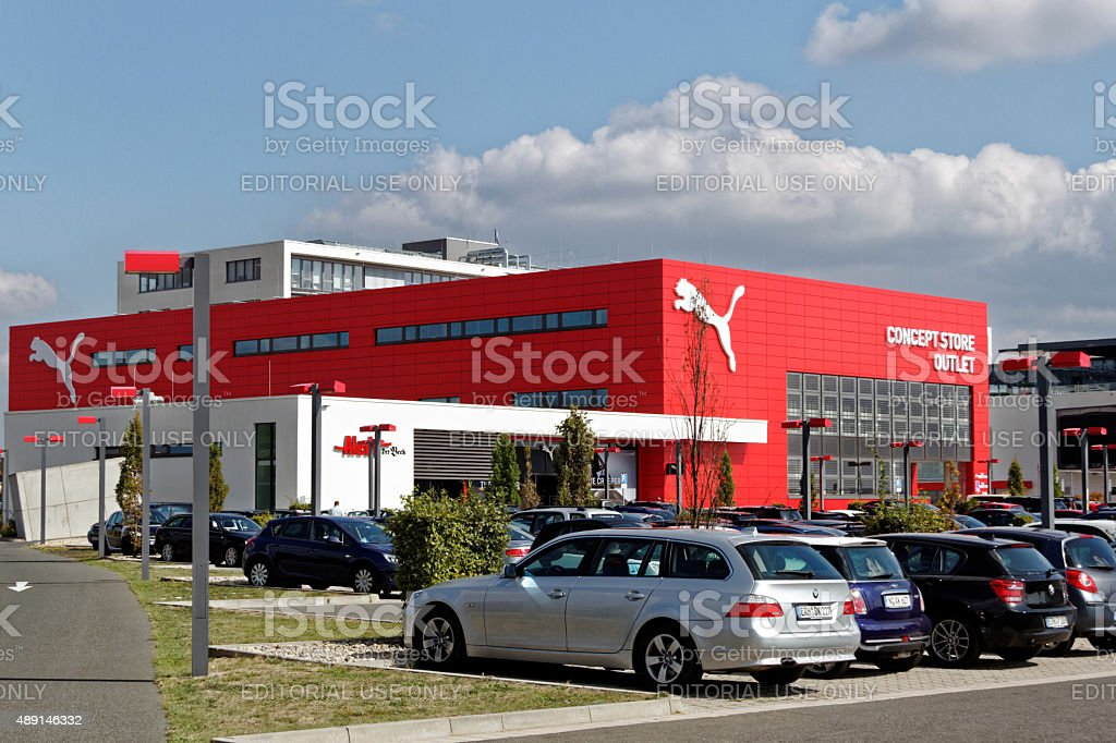 Puma outlet store stock photo